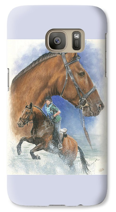 Equus Galaxy S7 Case featuring the mixed media Cleveland Bay by Barbara Keith