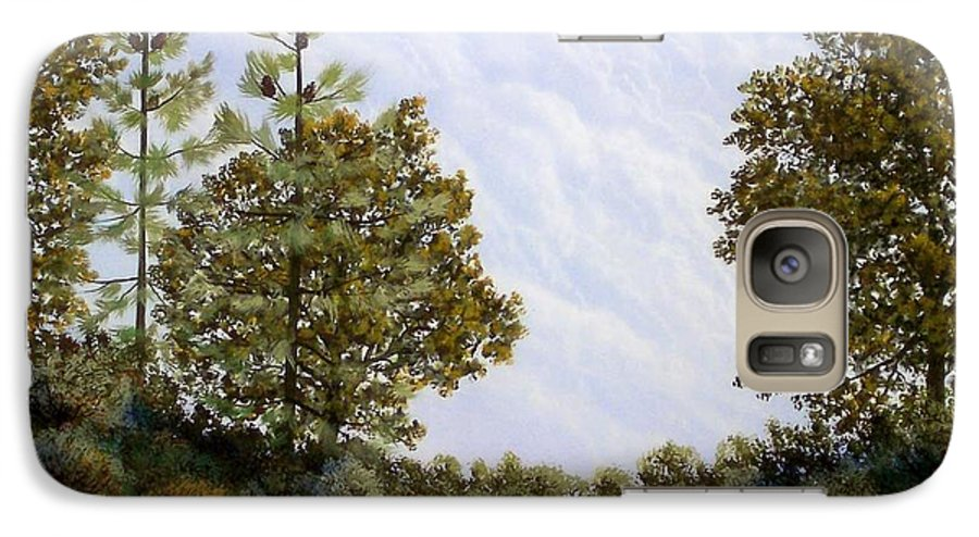 Landscape Galaxy S7 Case featuring the painting Clouds In Foothills by Frank Wilson