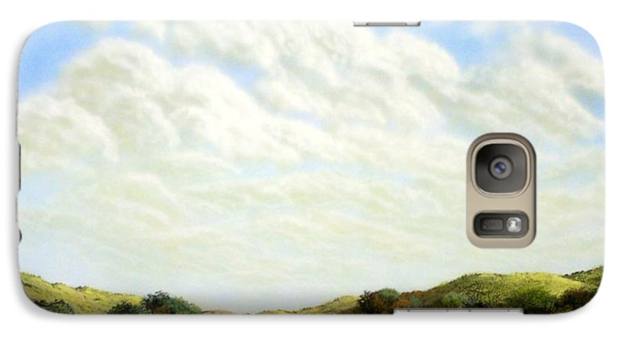 Landscape Galaxy S7 Case featuring the painting Clouds Of Spring by Frank Wilson