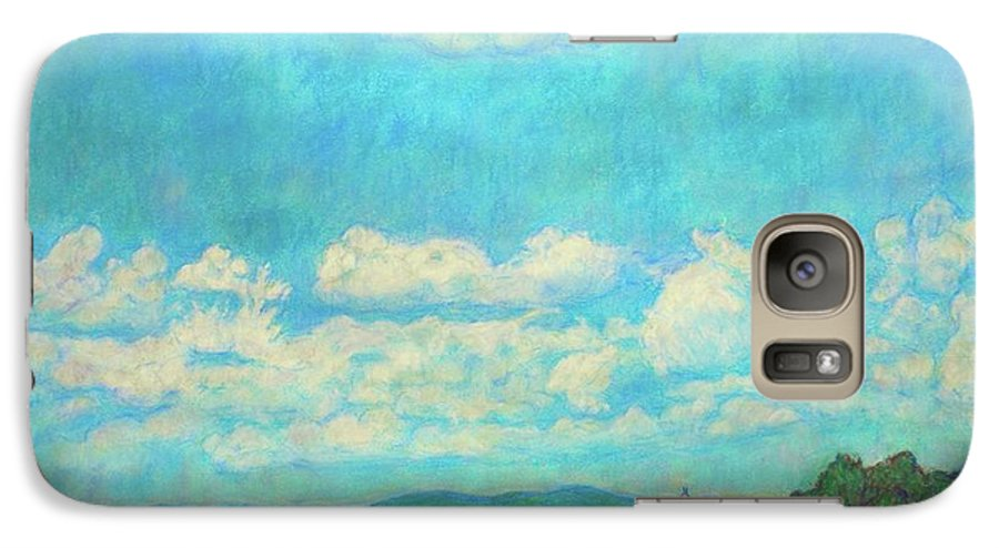 Landscape Galaxy S7 Case featuring the painting Clouds Over Fairlawn by Kendall Kessler