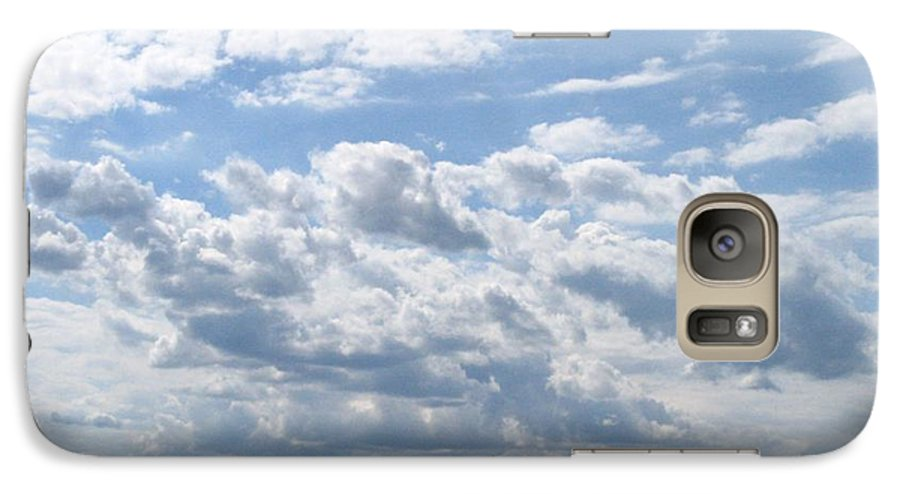 Clouds Galaxy S7 Case featuring the photograph Cloudy by Rhonda Barrett