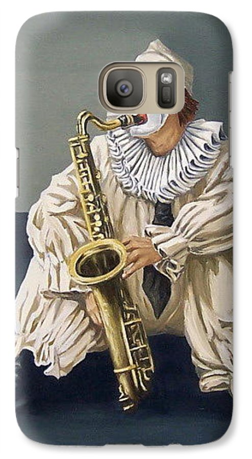 Clown Figurative Portrait People Galaxy S7 Case featuring the painting Clown by Natalia Tejera