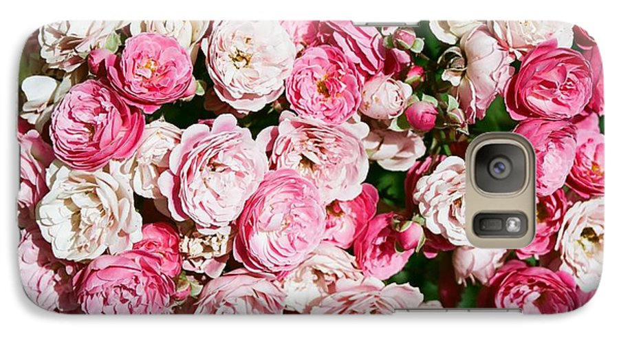 Rose Galaxy S7 Case featuring the photograph Cluster Of Roses by Dean Triolo