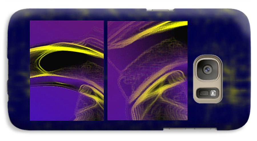 Abstract Galaxy S7 Case featuring the digital art Cobra by Steve Karol