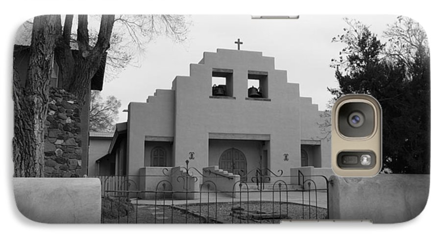 Architecture Galaxy S7 Case featuring the photograph Cochiti Church by Rob Hans