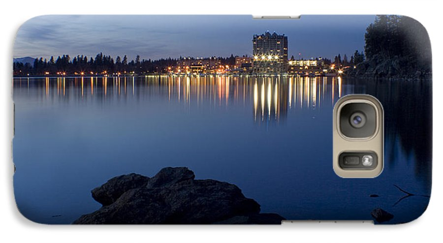 Skyline Galaxy S7 Case featuring the photograph Coeur D Alene Skyline Night by Idaho Scenic Images Linda Lantzy