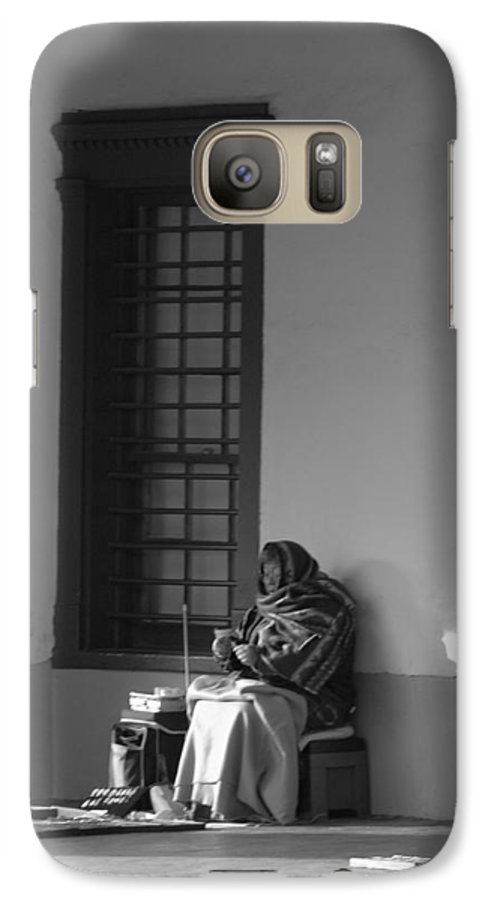Southwestern Galaxy S7 Case featuring the photograph Cold Native American Woman by Rob Hans