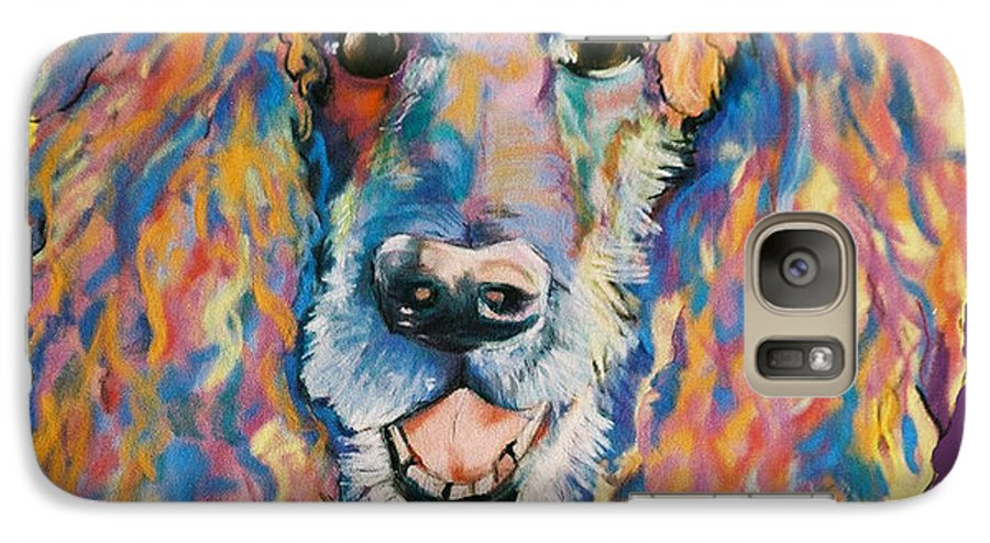Standard Poodle Galaxy S7 Case featuring the painting Cole by Pat Saunders-White