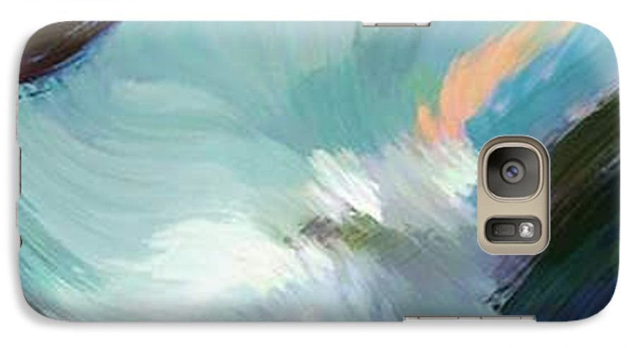 Landscape Digital Art Galaxy S7 Case featuring the digital art Color Falls by Anil Nene