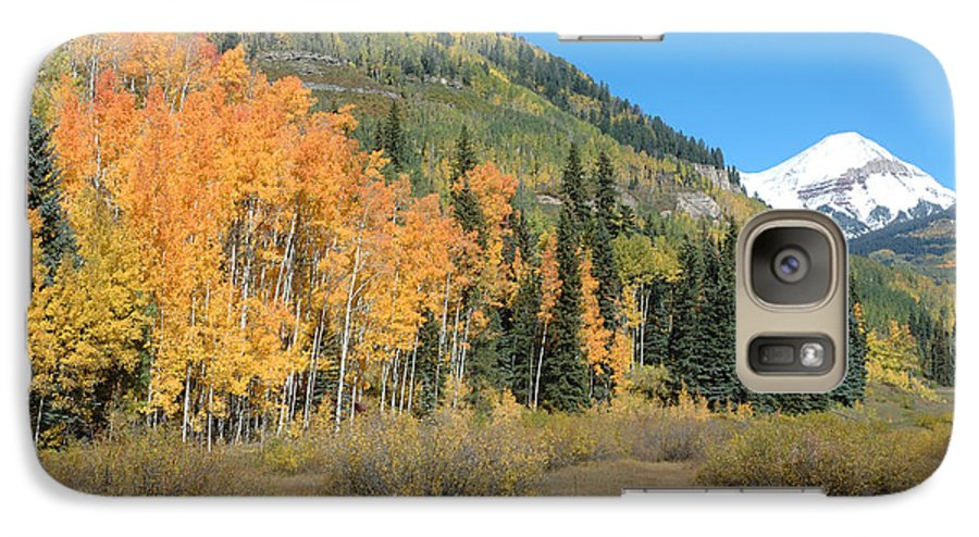 Aspen Galaxy S7 Case featuring the photograph Colorado Gold by Jerry McElroy