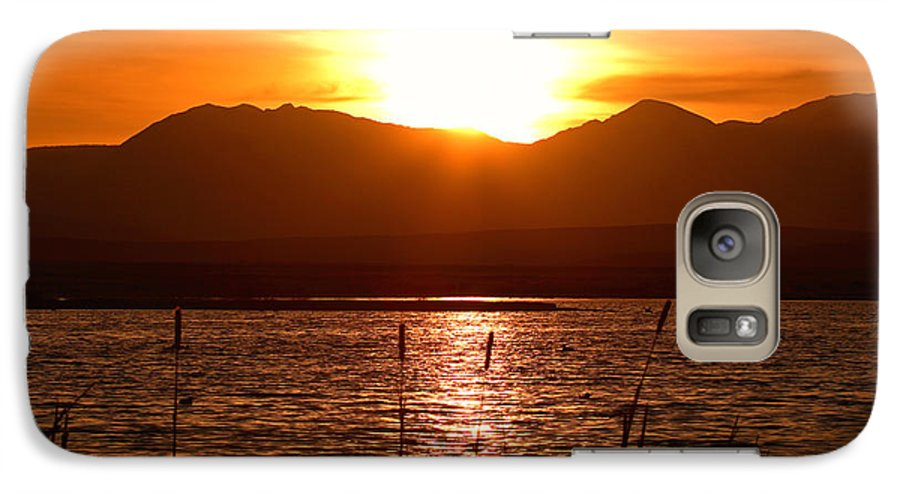 Colorado Galaxy S7 Case featuring the photograph Colorado Marsh At Sunset by Max Allen