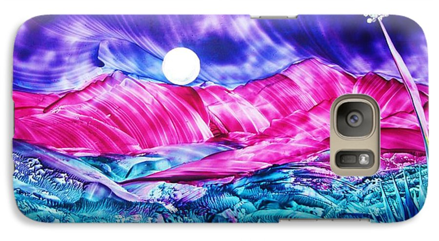 Bold Galaxy S7 Case featuring the print Colorful Desert by Melinda Etzold