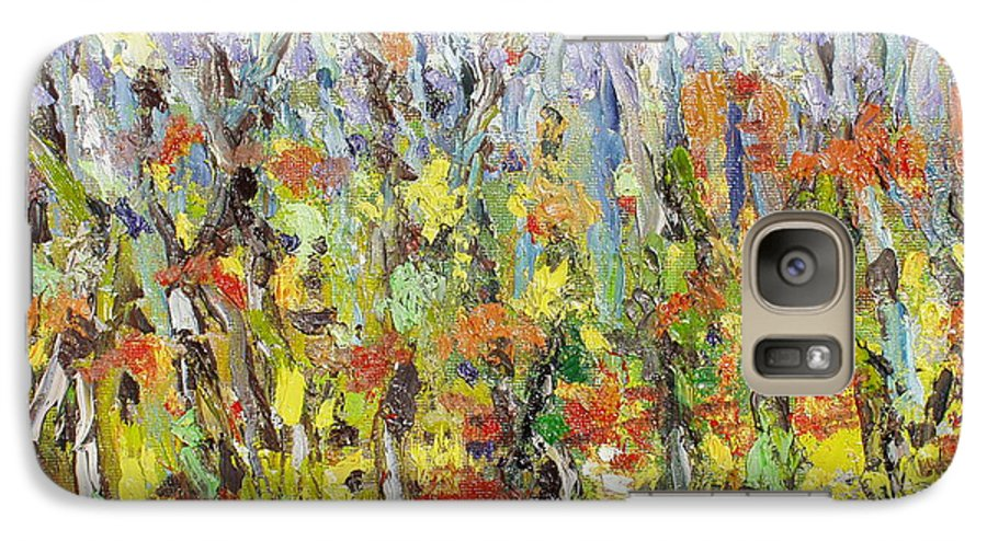 Autumn Abstract Paintings Galaxy S7 Case featuring the painting Colorful Forest by Seon-Jeong Kim