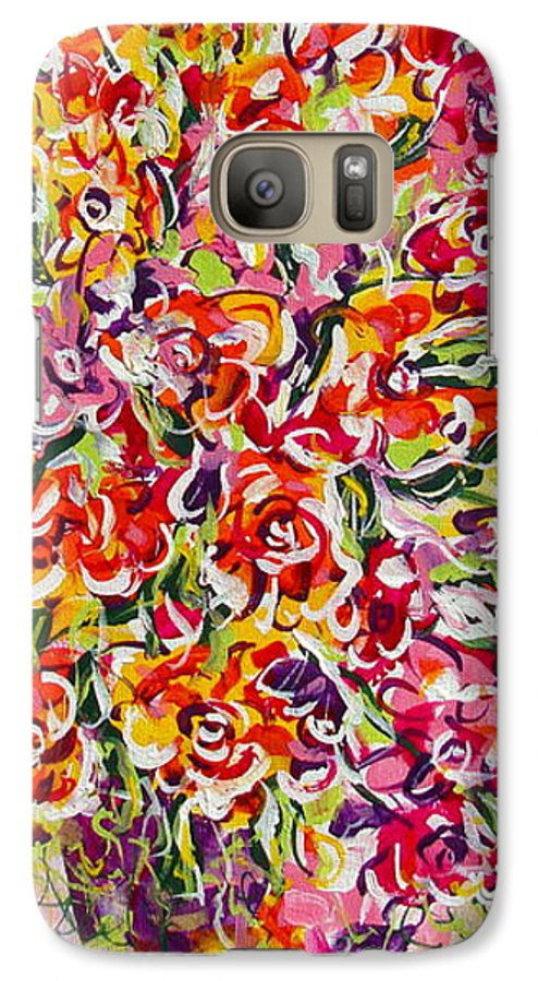 Framed Prints Galaxy S7 Case featuring the painting Colorful Organza by Natalie Holland