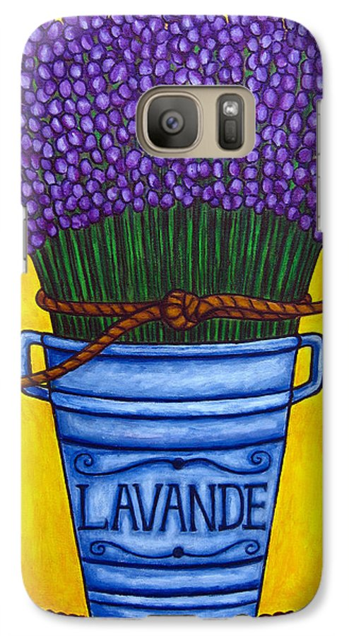 Antique Galaxy S7 Case featuring the painting Colours Of Provence by Lisa Lorenz