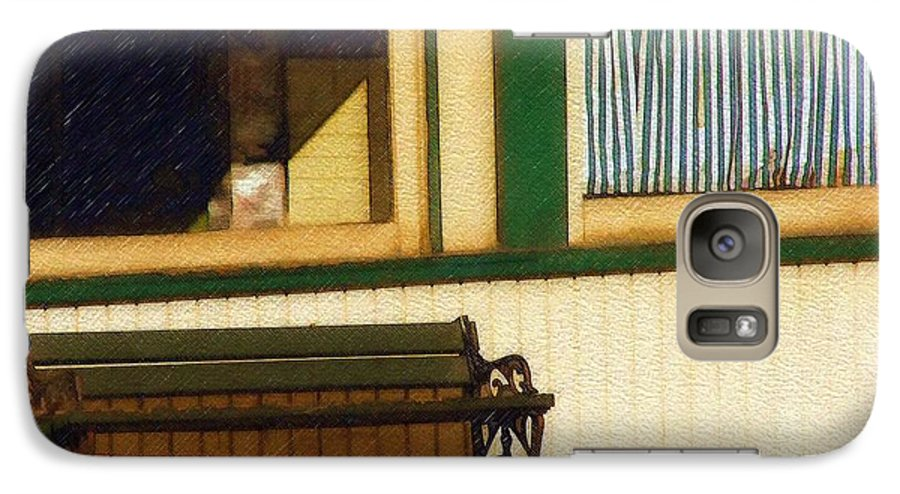 Bench Galaxy S7 Case featuring the photograph Come Sit A Spell by Sandy MacGowan