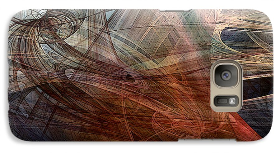 Abstract Galaxy S7 Case featuring the digital art Complex Decisions by Ruth Palmer