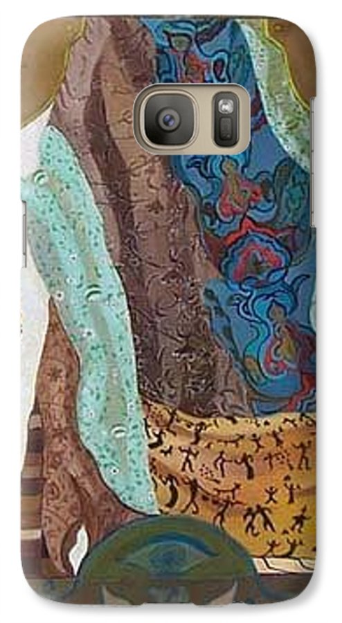 Galaxy S7 Case featuring the painting Composition With Scarfs by Antoaneta Melnikova- Hillman