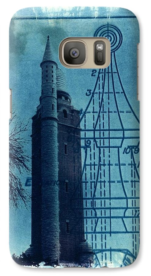 Alternative Process Photography Galaxy S7 Case featuring the photograph Compton Blueprint by Jane Linders