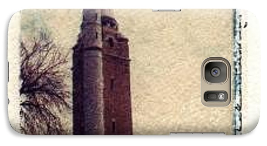 Polaroid Transfer Galaxy S7 Case featuring the photograph Compton Water Tower by Jane Linders
