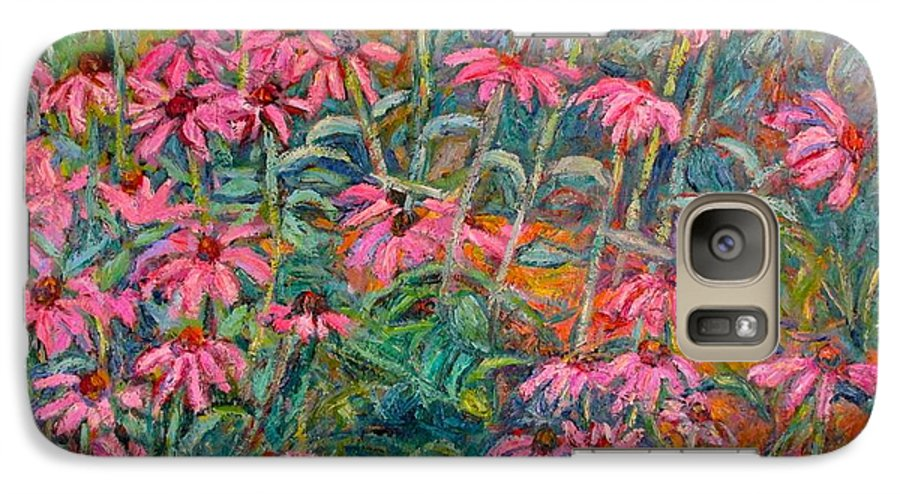 Kendall Kessler Galaxy S7 Case featuring the painting Coneflowers by Kendall Kessler