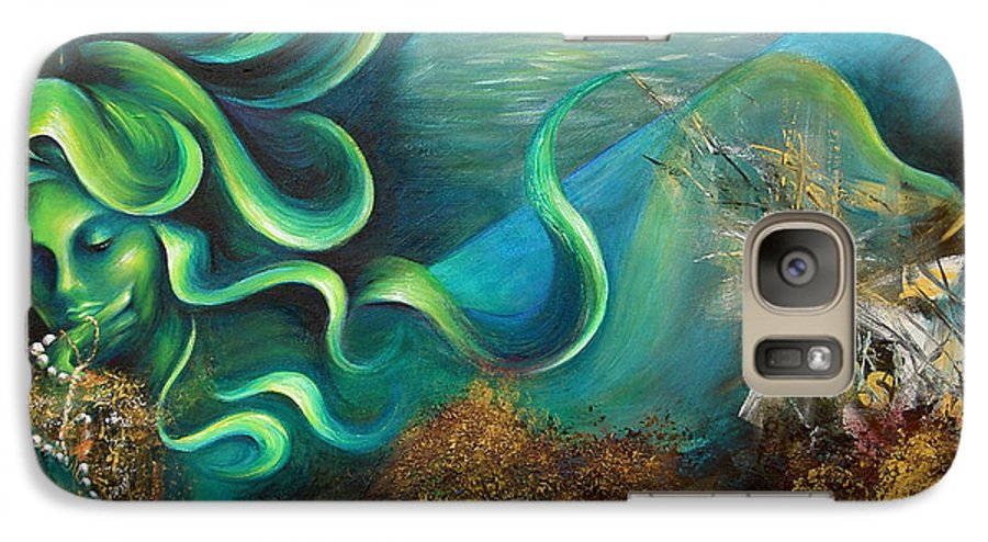 Ocean Galaxy S7 Case featuring the painting Confessions Of A Mermaid by Dina Dargo