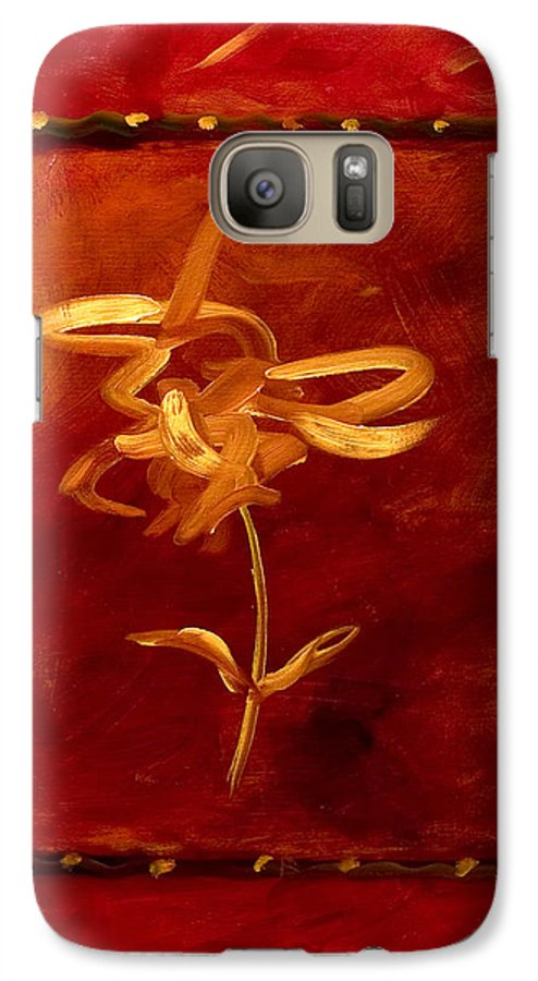 Abstract Galaxy S7 Case featuring the painting Confidence by Shannon Grissom