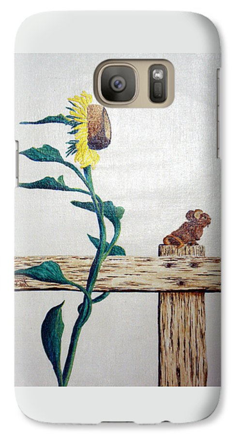 Still Life Galaxy S7 Case featuring the painting Confluence by A Robert Malcom