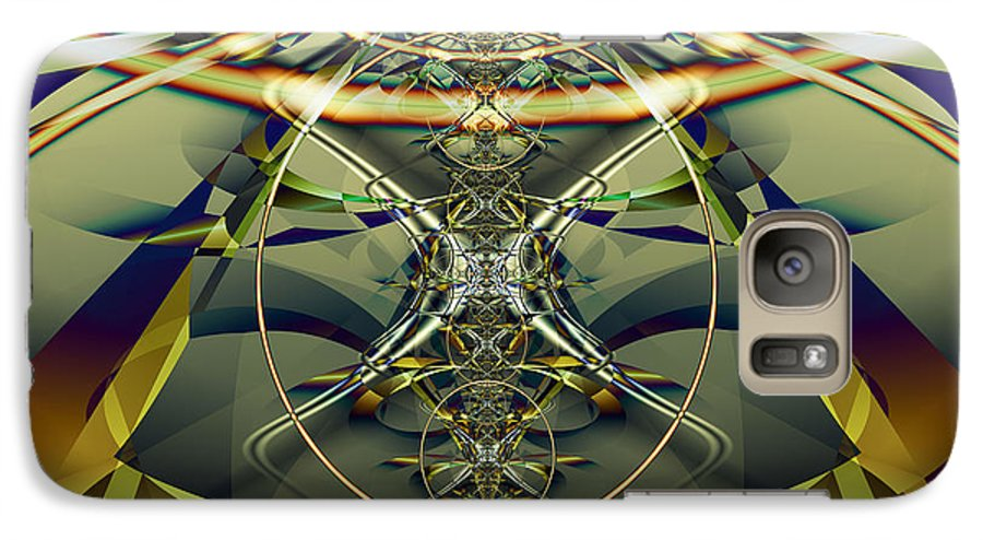 Fractal Galaxy S7 Case featuring the digital art Construction Rings by Frederic Durville