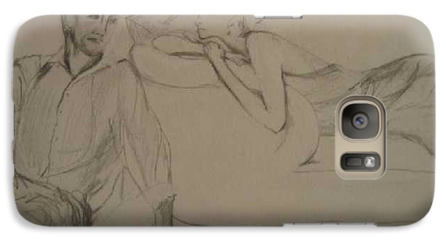 Seduction Galaxy S7 Case featuring the painting Contentment by Lizzy Forrester