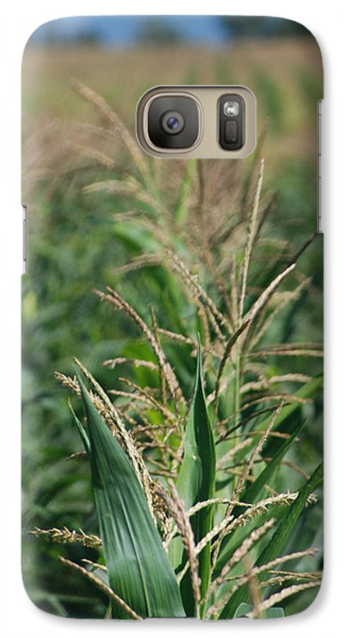 Country Galaxy S7 Case featuring the photograph Corn Rows by Margaret Fortunato