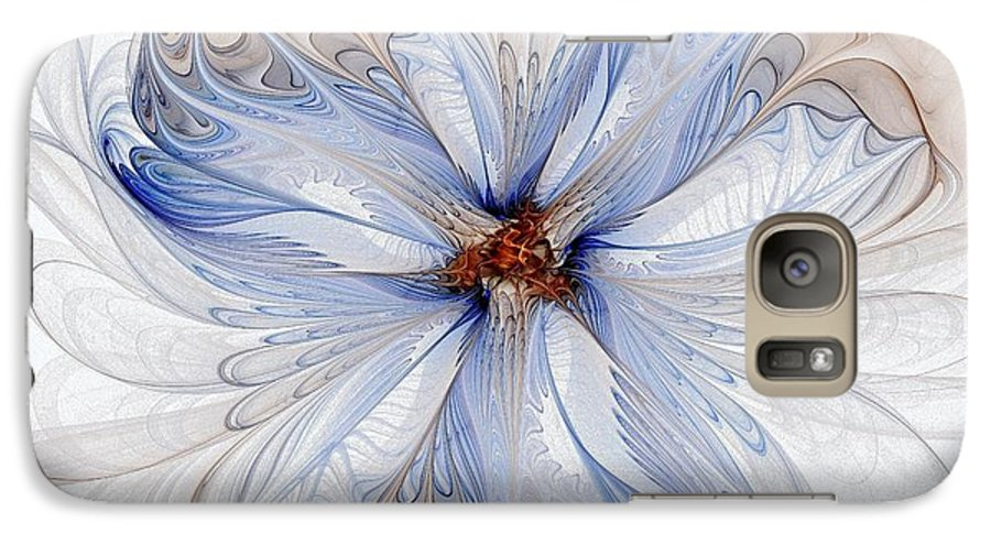 Digital Art Galaxy S7 Case featuring the digital art Cornflower Blues by Amanda Moore