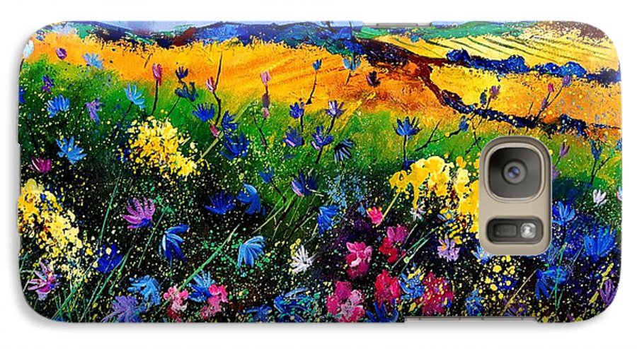 Flowers Galaxy S7 Case featuring the painting Cornflowers 680808 by Pol Ledent