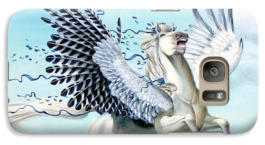 Artwork Galaxy S7 Case featuring the painting Cory Pegasus by Melissa A Benson