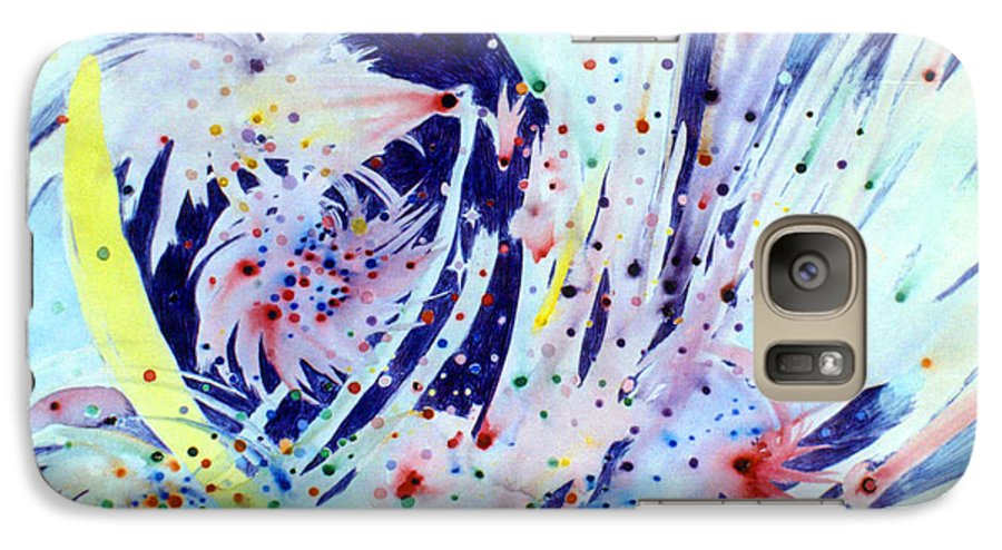 Abstract Galaxy S7 Case featuring the painting Cosmic Candy by Steve Karol