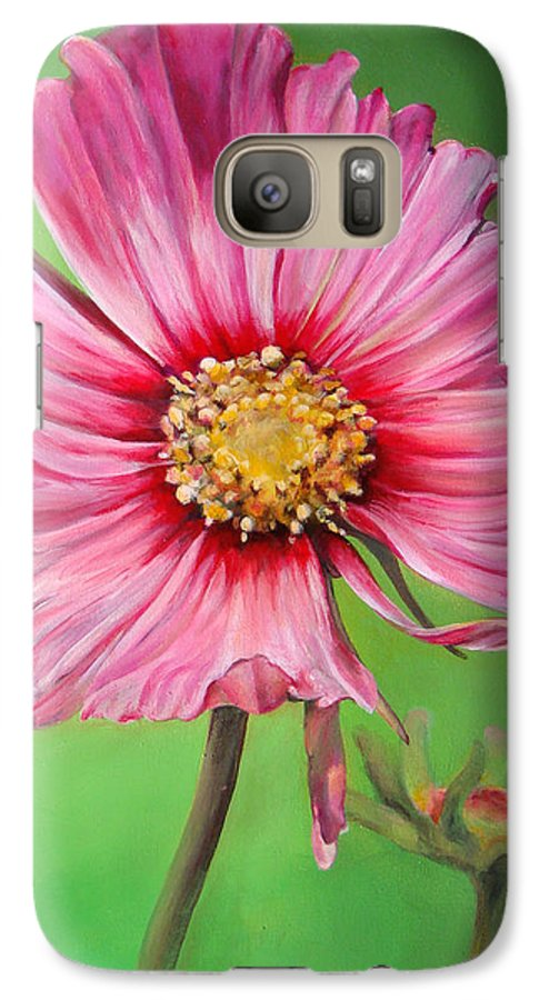 Floral Painting Galaxy S7 Case featuring the painting Cosmos by Dolemieux muriel