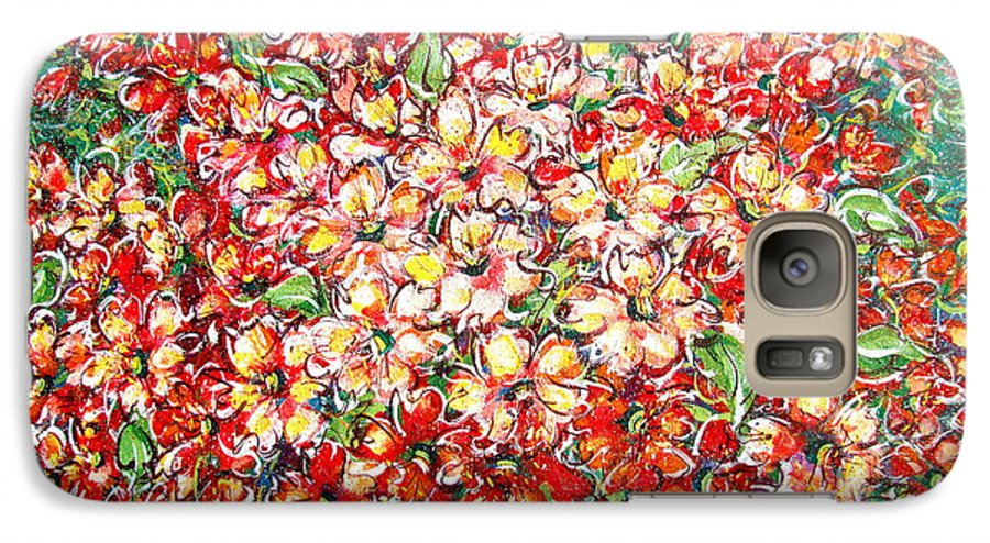 Flowers Galaxy S7 Case featuring the painting Cottage Garden Flowers by Natalie Holland