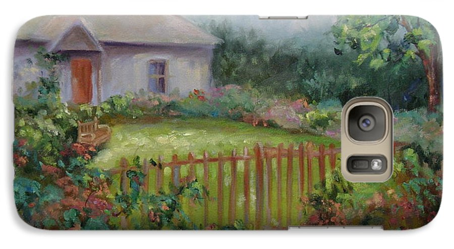 Cottswold Galaxy S7 Case featuring the painting Cottswold Cottage by Ginger Concepcion