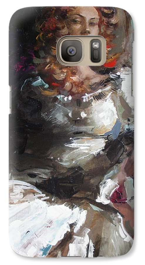 Ignatenko Galaxy S7 Case featuring the painting Countess by Sergey Ignatenko