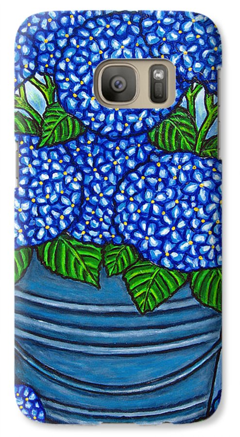 Blue Galaxy S7 Case featuring the painting Country Blues by Lisa Lorenz