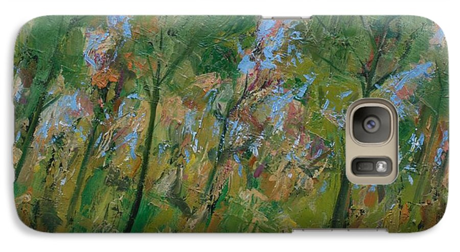 Trees Galaxy S7 Case featuring the painting Country Landscape by Mario Zampedroni