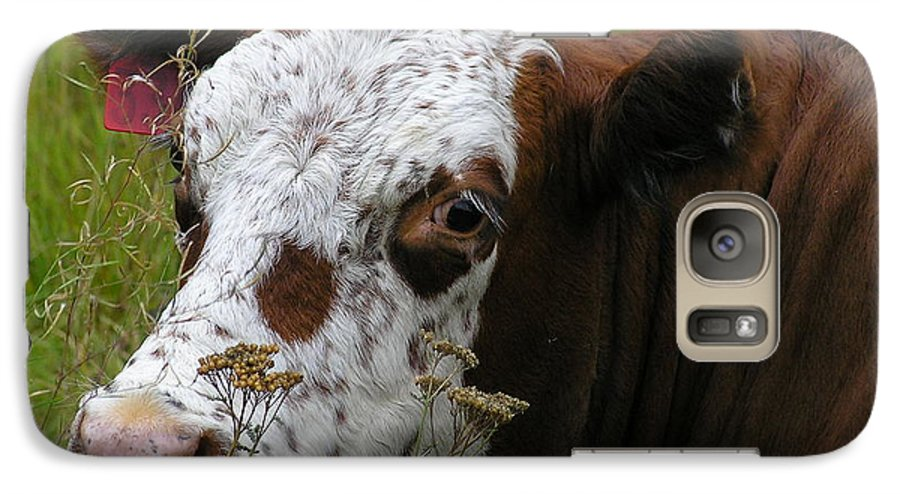 Tongue Galaxy S7 Case featuring the photograph Cow Tongue by Louise Magno