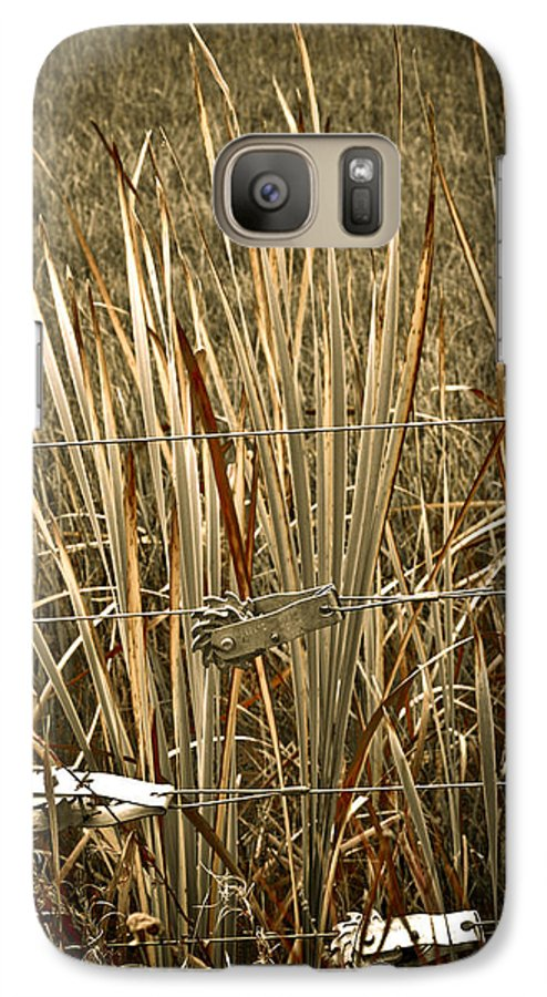 Americana Galaxy S7 Case featuring the photograph Cowboy Fence by Marilyn Hunt