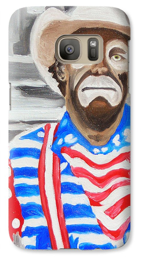 Rodeo Galaxy S7 Case featuring the painting Cowboy Savior by Michael Lee
