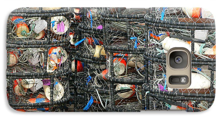 Crabs Galaxy S7 Case featuring the photograph Crab Traps by Larry Keahey