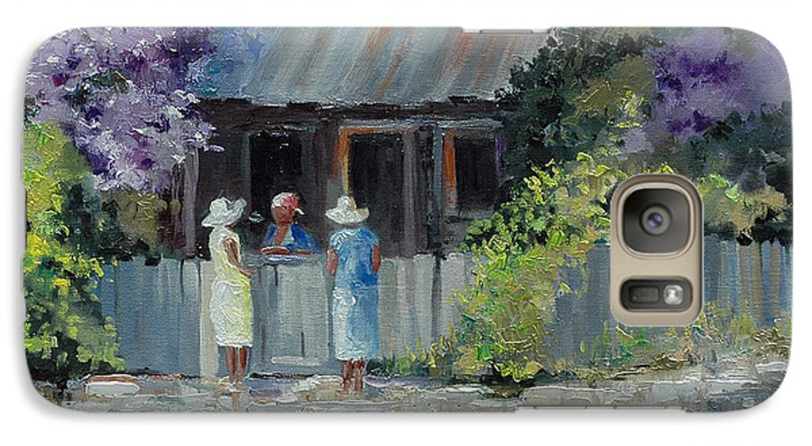 Floral Galaxy S7 Case featuring the painting Crape Myrtle And Ladies Of Darien by Glenn Secrest