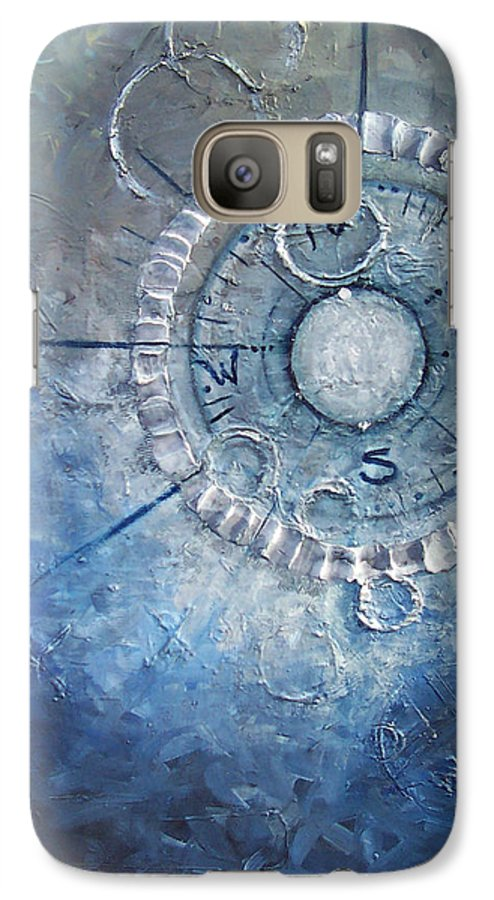 Contemporary Galaxy S7 Case featuring the painting Creation by Laura Sherrill