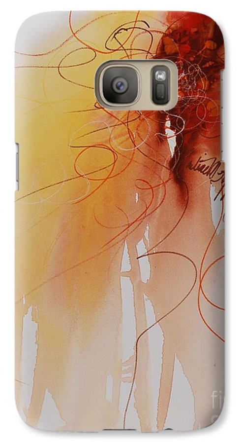 Creativity Galaxy S7 Case featuring the painting Creativity by Nadine Rippelmeyer