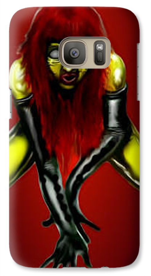 Pin-up Galaxy S7 Case featuring the digital art Crimson Gold by Will Le Beouf