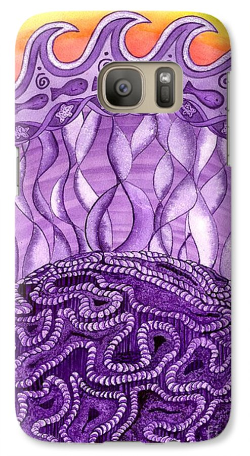 Chakra Galaxy S7 Case featuring the painting Crown Chakra by Catherine G McElroy